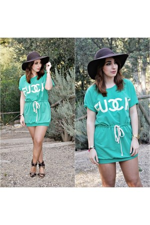 Sheinside dress - BLANCO hat - Sfera wedges