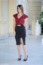 OMGFashion skirt - Savida blouse - Dunnes heels