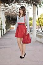 Dunnes skirt - Valentino bag - Atmosphere heels - Zara top