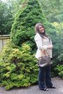 Beige-zara-blazer-black-h-m-blouse-brown-louis-vuitton-purse-blue-michael-