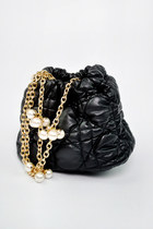 Pearl chain bucket bag