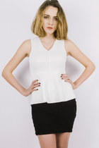 Tuscany peplum top - white