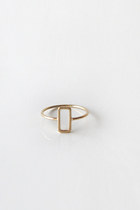 Hollow rectangle ring