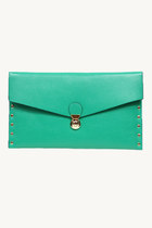 Envelope clutch - teal
