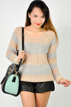 Zipper stripe knit