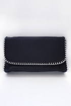 Chain trimmed bag - black