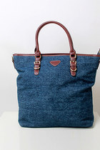 Oversized denim shopper