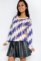 Electric wave sweater