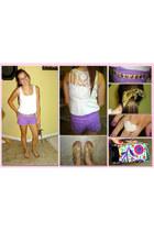 Delias shorts - Forever 21 top - Vera Bradley wallet