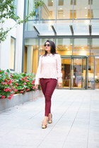Sheinside top - Forever 21 pants - Michael Kors pumps