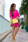 Hot-pink-neon-love-shopping-miami-dress-yellow-clutch-love-shopping-miami-bag