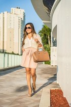 light pink pastel Love Shopping Miami skirt