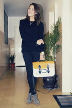 camel Stella Rittwagen bag - black Bershka sweater - black Zara pants
