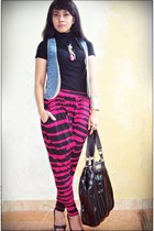 Guess shoes - charles&keith bag - Zara top - pants