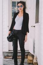silk BCBGeneration blazer - faux leather asos pants
