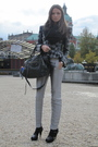 Silver-balenciaga-pants-black-miu-miu-shoes-gray-topshop-jacket-black-bale