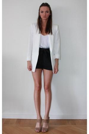 Zara blazer - American Apparel top - GINA TRICOT shorts - shoes