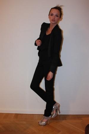 Paul & Friends blazer - vintage top - acne pants - Topshop Boutique shoes