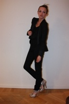 Paul & Friends blazer - vintage top - acne pants - Topshop Boutique shoes