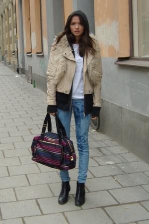 Tshirt store t-shirt - Hugo Boss sweater - Zara jacket - Topshop vest - GINA TRI