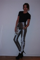 acne t-shirt - balenciaga pants - Accesorize purse - Topshop shoes