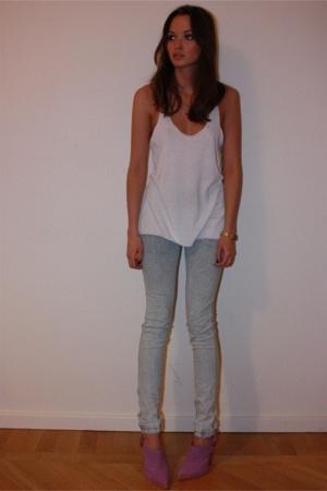 Zara top - GINA TRICOT jeans - TopShop Unique shoes