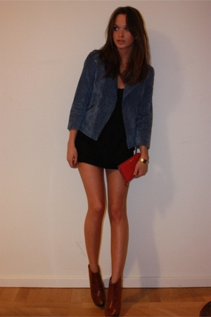 Topshop jacket - dress - Topshop shoes - Miu Miu purse