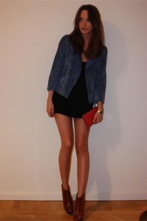 Topshop jacket - dress - Topshop shoes - Miu Miu purse