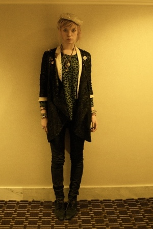 Rodebjer coat - vintage sweater - My momma sweater - Cheap Monday jeans - vintag