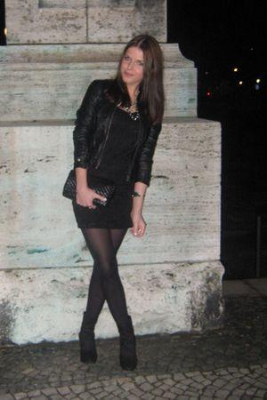 black H&M dress - black Zara jacket