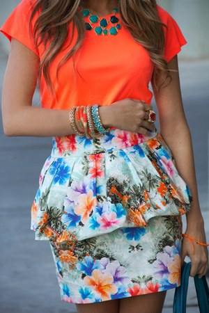 peplum skirt Bershka skirt