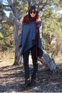 Gray-levis-jeans-heather-gray-poncho-unknown-brand-sweater
