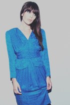 blue cobalt vintage dress