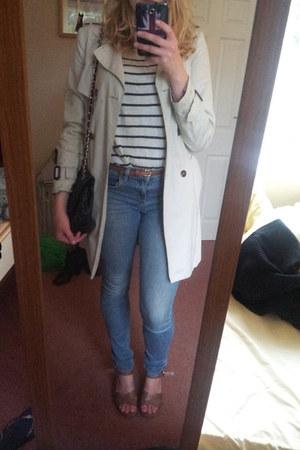 Topshop jeans - Zara jacket - H&M jumper - Primark wedges