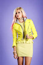 neon biker lucca couture jacket