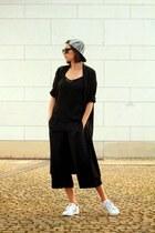 Monki coat - hm pants - Adidas sneakers