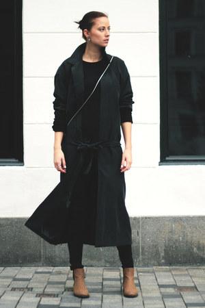 Monki boots - gray weekday coat