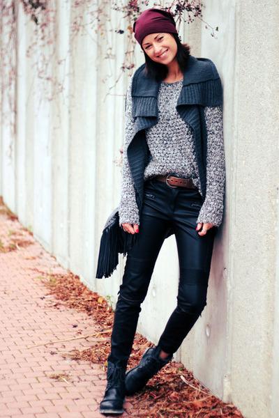 black leather Zara pants