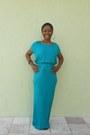 Turquoise-blue-maxi-dress