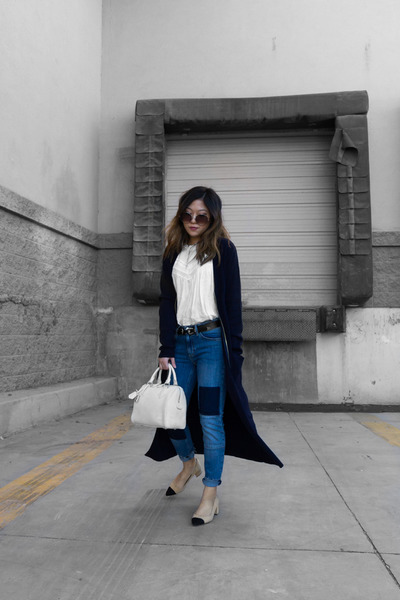 navy long cardigan cardigan