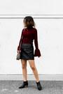 Crimson-mock-neck-sweater