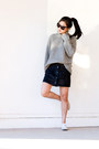 Heather-gray-turtleneck-sweater-black-cat-eye-sunglasses