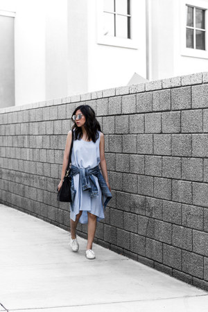 blue denim jacket jacket - sky blue dress
