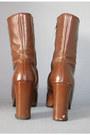 Brown-platform-vintage-boots