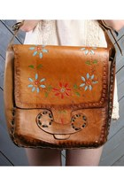 Tawny Tooled Leather LUCKY VINTAGE Purses