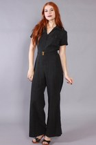 70s Black Jumpsuit