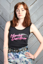 Black-lace-trim-vintage-harley-davidson-top