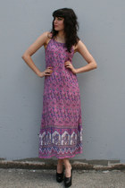pink indian cotton vintage dress