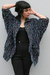 black cotton cocoon vintage jacket