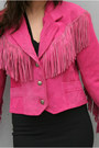 Hot-pink-fringed-suede-vintage-jacket
